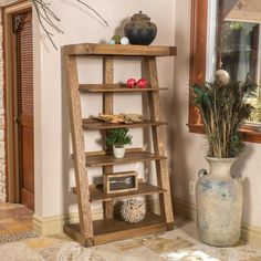 Boston Natural Brown 5-shelf Oak Wood Bookcase  $400