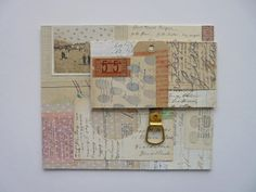Finger prints and measuring tape | mixed media collage | by Clare Hillerby