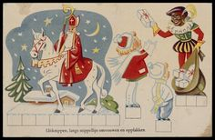 Uitknippen Vintage Box, Paper Toys, Toy Boxes, Colouring Pages, Rooster, Christmas Cards, December, Printables, Kids