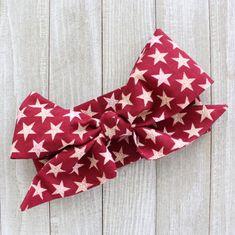 Rustic star head wrap bow