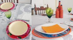 Novos conjuntos de sousplat para deixar sua mesa colorida. Para conferir estes produtos acesse www.decorasampa.com