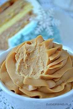 Krem Speculoos do tortu Icing Frosting, Polish Recipes, Peanut Butter, Food And Drink, Sweets, Snacks, Cream, Baking, Cake