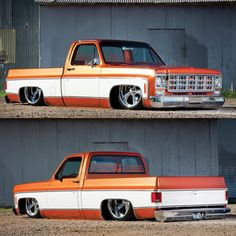 Hot Wheels - Amazing squarebody via @elprimosoilfieldservices , she's one bad ass frame laying ride! @tre5customs @accuair @introwheels #chevrolet #gmc #c10 #airsuspension #carporn #streetrod #streetmachine #raked #stance #airsuspension #bagged...