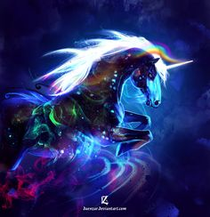 magnetic storm unicorn by Daenzar.deviantart.com on @deviantART
