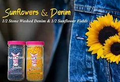 Pink Zebra recipe for Sunflowers and Denim is made with Sunflower Fields and Stone Washed Denim sprinkles. Go to www.pinkzebrahome.com/mrasley to order.