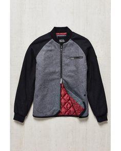 Native Youth | Gray Raglan Bomber Jacket for Men | Lyst