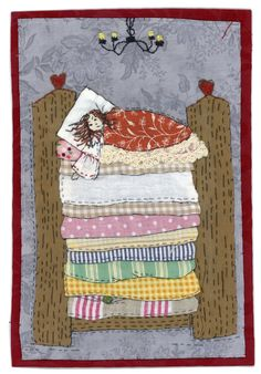 Sharon Blackman.  Princess and the pea fairy tale