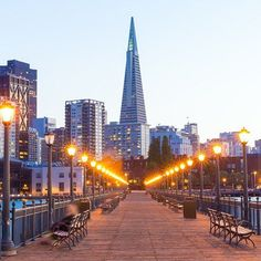 The San Francisco pier looks pretty spectacular at night!