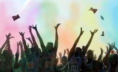 Flying colors. #thecolorrun