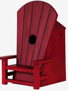 Outdoor Lover Adirondack Chair Birdhouse, Functional and Unique Bird Houses at Songbird Garden Bird House Feeder, Bird Feeders, Plywood Furniture, Rustic Furniture, Furniture Decor, Birdhouse Designs, Unique Birdhouses, Birdhouse Ideas, Painted Birdhouses