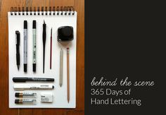 lisa congdon discusses her latest project - hand lettering every day (and the tools she uses, etc.)