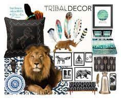 """Tribal contest"" by brooklynjadetoni ❤ liked on Polyvore featuring interior, interiors, interior design, home, home decor, interior decorating, Kess InHouse, nuLOOM and NOVICA"