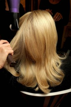 50 shades of blonde: inspiration to take to your hairdresser: Bombshell blonde at Giambattista Valli.