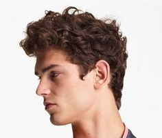 Mens curly hair, mens wavy hair