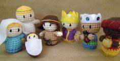 Soooo cute! free crochet amirugumi for holidays - tip use Google translator !