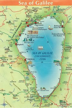 Biblical Map of Sea of Galilee - Bing images Bible Study Notebook, Bible Study Tools, Scripture Study, Bible Teachings, Bible Scriptures, Heiliges Land, Bibel Journal, Bible Mapping, Sea Of Galilee