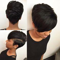 Short Hairstyle for Black Hair hair … - Short Hair Girl Short Hair, Short Hair Cuts, Short Hair Styles, Pixie Cuts, Curly Short, Short Pixie, Short Black Hairstyles, Girl Hairstyles, African Hairstyles