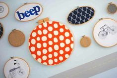Cloth wooden hoops