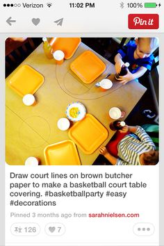 Basketball court tablecloth