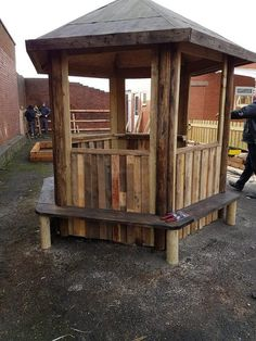 pallet patio gazebo