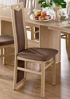 Stühle (2 Stück) - Bezug braun Dining Bench, Dining Chairs, Furniture, Medium, Home Decor, Kitchen Dining Rooms, Stools, Oak Tree, Brown