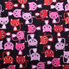 """Ann Kelle for Robert Kaufman - """"Urban Zoologie"""" collection - Cats Licorice Cot Quilt, Quilts, Horse Fabric, Nursery Fabric, Jungle Print, Patchwork Fabric, Robert Kaufman, Urban, Diy And Crafts"""