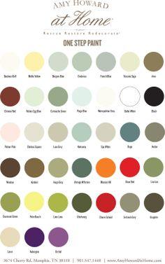 Amy Howard Chalk paint in 42 beautiful shades Chalk Paint Colors Furniture, Chalk Paint Projects, Colorful Furniture, Painted Furniture, Annie Sloan, House Painting, Diy Painting, Amy Howard Paint, Milk Paint