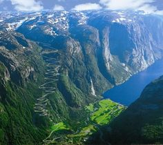 Travel Discover 13 Places To See Before You Die Lysefjord is a fjord located in Forsand in Ryfylke in south-western Norway. The name means light fjord and is said to be derived from the lightly coloured granite rocks along its sides. Dream Vacations, Vacation Spots, Maui Vacation, Places To Travel, Places To See, Travel Destinations, Wonderful Places, Beautiful Places, Beautiful Scenery