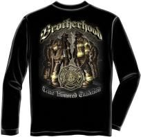 NEW FIREFIGHTER BROTHERHOOD LONG SLEEVE T-SHIRT TIME HONORED TRADITION SIZE 2XL