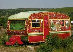 gypsy trailer I want create from older travel trailer - OMG! the ideas I have running thru my head....