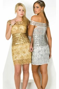 Gold Corset Short/Mini Natural Short Sleeve Prom Dress PD1345