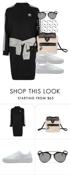 """""""Style #11568"""" by vany-alvarado on Polyvore featuring Topshop, Chanel, Puma, Christian Dior and ASOS"""