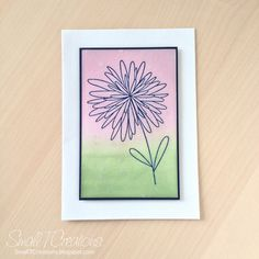 Flower Card with Distress Ink Background | Small T Creations