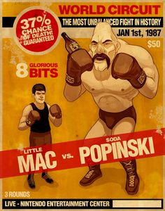 Little Mac vs. Soda Popinski by Mike Mitchell. Retro Video Games, Video Game Art, Game Boy, Punch Out Nes, Science Fiction, Arcade, Mike Mitchell, Little Mac, Light Games