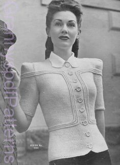 "knitting Patterns - PDF Copy of Sun-glo Knitting Booklet Series 40 contains Pattern No. 2292 ""Undergrad"" - knitting Patterns – PDF Copy of Sun-glo Knitting Booklet Series 40 contains Pattern No. Baby Boy Knitting Patterns, Baby Knitting, 1940s Fashion Women, Vintage Fashion, 1940's Fashion, Retro Outfits, Vintage Outfits, Mode Vintage, Vintage Knitting"