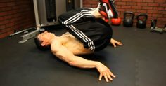 """Start with a """"lower ab"""" movement."""
