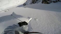 A five minute traverse and a 30 second hike yields this not so secret couloir high up in Verbier. Steep and flowy, it is one of many easily accessed lines that ski better as the season progresses. This video was shot in mid April, when the couloir is most filled in. Check out chaletlavigne.com #luxurychalet #skiing #verbier
