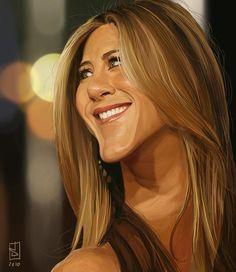 Celebrities caricature - Jennifer Aniston http://www.deviantart.com