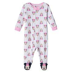 Disney's Minnie Mouse Baby Girl Sleep & Play, White
