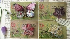 I love the teeny delights of these brooches by Dear Emma Designs . Fabric Flower Brooch, Fabric Butterfly, Butterfly Gifts, Fabric Flowers, Textile Jewelry, Fabric Jewelry, Textile Art, Jewellery, Free Motion Embroidery