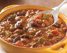 Chili with Beans and other delicious groceries delivered to your door. #Schwans #FoodDelivery #Soup