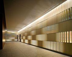 best Ideas for screen facade design patterns Lift Design, Spa Design, Wall Design, Facade Lighting, Lighting Showroom, Lighting Design, Japanese Modern, Japanese Interior, Facade Design Pattern