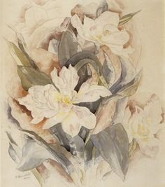 File:Charles Demuth - 'Flower Study', watercolor over graphite. Early American, American Art, Watercolor And Ink, Watercolor Flowers, Arthur Dove, Charles Demuth, Art Aquarelle, Paul Cezanne, Flower Of Life