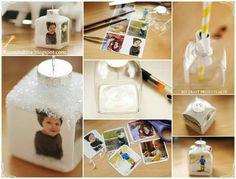 Photo cubes picture ornaments
