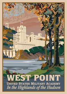 How I loved being a student at West Point United States Military Academy Voyage Usa, United States Military Academy, Highlands, Art Academy, United States Travel, Vintage Travel Posters, Travel Usa, Adventure Travel, National Parks