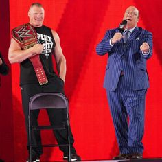 Brock Lesnar w/ Paul Heyman congratulate Seth Rollins victory Paul Heyman, Kevin Owens, Finn Balor, Brock Lesnar, Battle Royal, Seth Rollins, Victorious, All Star, Superstar