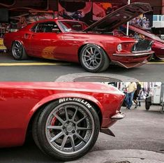 forgeline: Did you catch incredible 69 Mustang Fastback in the booth at the 2016 Its powered by small block Cleveland with EFI and rides on a suspension Mustang Fastback, Ford Mustang Shelby, Mustang Cars, Ford Gt, Shelby Gt500, 2012 Mustang, Red Mustang, Auto Retro, Retro Cars