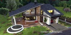 Luxury Villa Inspired From Macedonia – Amazing Architecture Magazine Bungalow House Design, Modern House Design, Dream Home Design, Home Design Plans, Roof Design, Exterior Design, Building Design, Building A House, House Plans Mansion