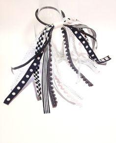 Harlequin Hair Ribbon Bachelorette Party by FlyingCraneRibbons
