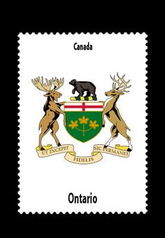 The Coat of Arms for the province of Ontario, Canada. A Great place to travel. So many different types of scenery from rural to big city! Cinque Terre, Salzburg, Chamonix Mont Blanc, Calabria Italy, Ville France, France 1, My Roots, Irish Roots, Thinking Day
